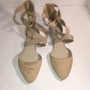 Epicstep Tan Flats with criss cross straps size 11